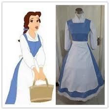 Belle Blue Dress Pattern Beauteous Beauty And The Beast Princess Belle Blue Maid Dress Coplay Costume