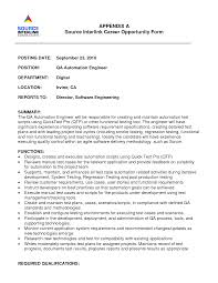 qa engineer resume templates cipanewsletter cover letter test engineer resume sample senior test engineer