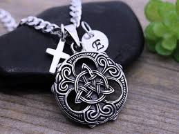 mens celtic trinity necklace sterling silver triquetra necklace man irish jewelry celtic scottish