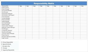 Project Planning Matrix Template Responsibility Assignment Matrix
