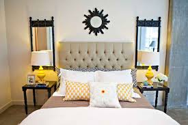 Modern Nice Design Of The Bedroom Ideas Modern Vintage That Has Cream Modern  Bed Can Be Decor With Two White Table Lamp Can Add The Modern Touch Inside