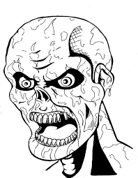 Scary Zombie Coloring Page Coloring Home