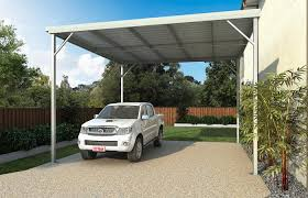 falt roof carport bolted with knee bracing