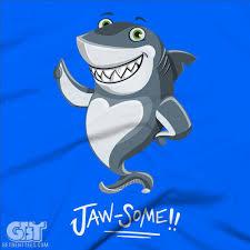 jawsome funny shark t shirt