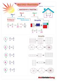 Big Fraction Chart Multiply Fractions Poster By A Fraction Whole Number