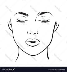 Makeup Charts Free Woman Portrait Face Chart Makeup Template