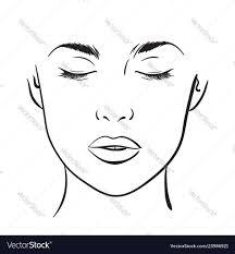 Woman Portrait Face Chart Makeup Template