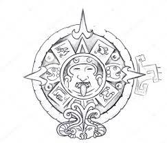 татуировки ацтеков эскизы искусство татуировки эскиз ацтекского