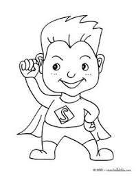 Small Picture Black and White Little Girl Superhero Clip Art Superhero