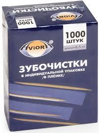 """<b>Зубочистки</b> """"<b>Aviora</b>"""", бамбуковые, <b>1000 шт 401-488</b>, цвет ..."""