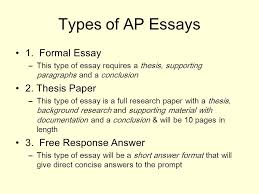 writing for the ap government exam types of ap essays formal  types of ap essays 1
