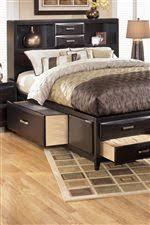 Ashley Furniture Kira Queen Storage Bed   Wayside Furniture ...