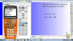 solving simultaneous equations using matrices on a ti 84
