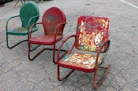 vintage metal lawn chairs that come in