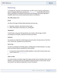 Sample Business Plan Outline Free Home Bakery Business Plan Template At Home Bakery Business Plan
