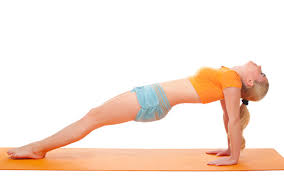 Image result for woman yoga upward plank pose