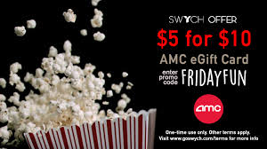 gift card the deal 5 for 10 amc egift card