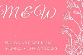 Wedding Label Templates Pink Illustrated Floral Vintage Wedding Label Templates By Canva