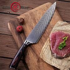 Grandsharp 8'' <b>Chef Knife Laser Damascus</b> Pattern Stainless Steel ...