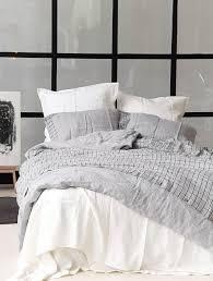 linen bedding set with windowpane