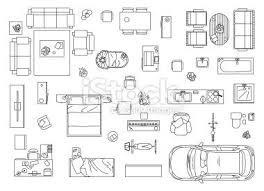 Design Elements  Basic FurnitureFurniture Icons For Floor Plans