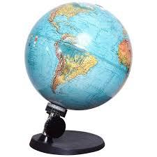 Danish Modern Illuminated Scan Globe For Sale