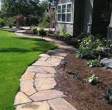 flagstone landscaping. Simple Landscaping Flagstone Pathway For Flowerbed Edging  Followpicsco In Landscaping D