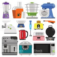 Kitchen Appliances On Credit Kitchen Appliances Vector Stock Vector Art 587782672 Istock