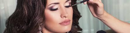 posh makeup. woman getting professional makeup application at simply posh medical spa in new york