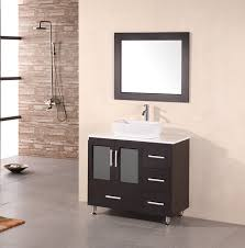 stanton 36 modern bathroom vanity vessel sink