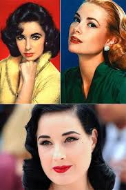 according to this it s mostly about full eyebrows lashes and lips 1950s make up tutorial