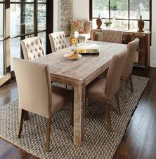 distressed dining room table ideas. vintage distressed dining room chairs to blend with modernity : fascinating light brown tufted table ideas d