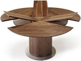 skovby sm32 solid wood round dining table with steel base plate 6 to 9 seater