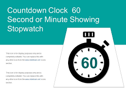 Countdown Clock 60 Second Or Minute Showing Stopwatch