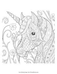 Explore 623989 free printable coloring pages for you can use our amazing online tool to color and edit the following unicorn head coloring pages. Zentangle Unicorn Head Coloring Page Free Printable Pdf From Primarygames