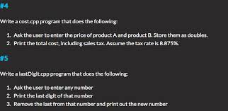 Solved 4 1 Ask The User To Enter The Price Of Product A