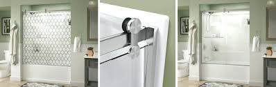 contemporary style sliding bathtub door installation shower doors canada