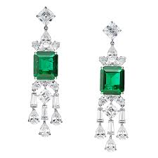 odessa luxury green chandelier earrings all the green of nature is concentrated within the