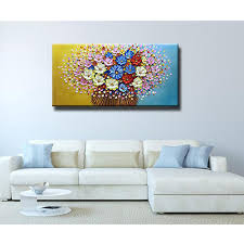 oil painting big palette knife colorful