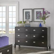 Lonny 6-Drawer Black Wood Campaign Dresser and Mirror by iNSPIRE Q Classic  - Free Shipping Today - Overstock.com - 25314057