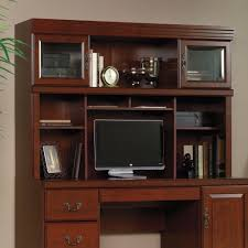 Cabinet And Lighting Furniture Sauder Desks With Computer Credenza With Brown Wooden