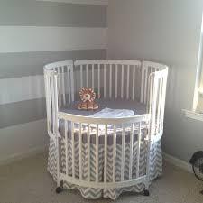 Round Crib w/ Chevron Bedskirt