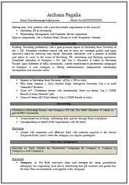 free - Mba Marketing Resume Sample