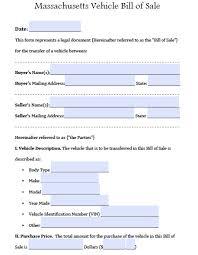 bill of sale template ma free massdot rmv registry of motor vehicles auto bill of sale form
