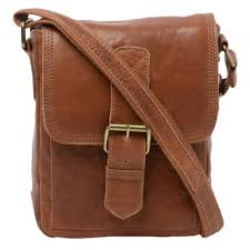 small leather travel bag 8684 tan