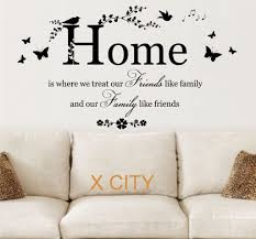 family  on wall art stickers quotes australia with family friends home quote creative wall art sticker removable