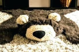 nursery bear rug skin faux for rustic pattern