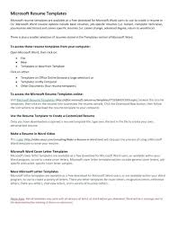 Does Microsoft Word Have A Resume Template Example Resume Free Basic ...