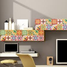 italian tiles stickers pack of 18 tiles tile decals art for walls kitchen backsplash bathroom
