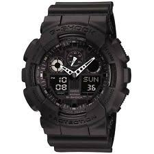mens g shock watch casio ga 100 1a1er mens g shock auto led light all black watch